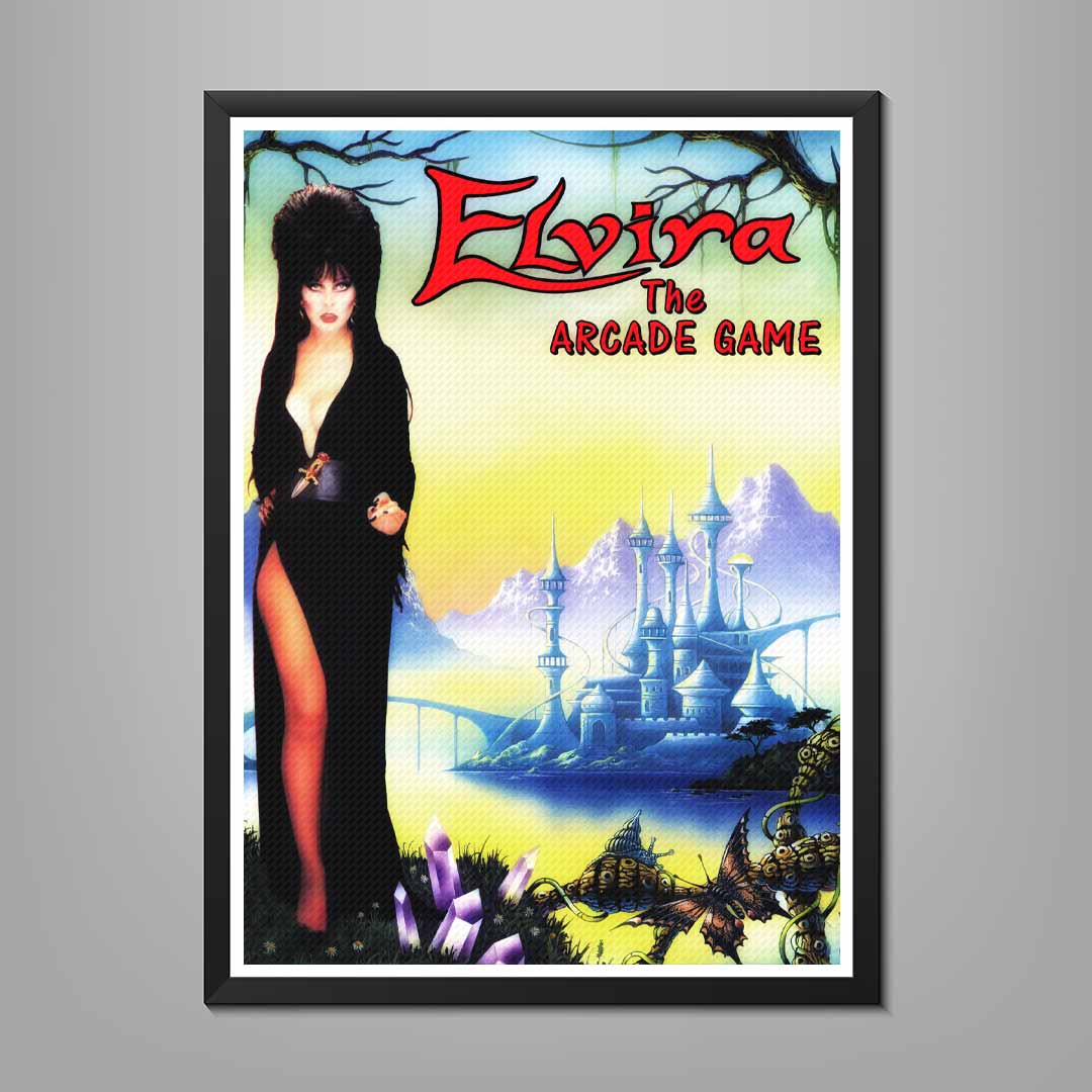 Elvira The Arcade Game Poster